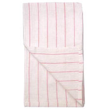 Restaurant Towels - White/Red Stripe - 12 pk.