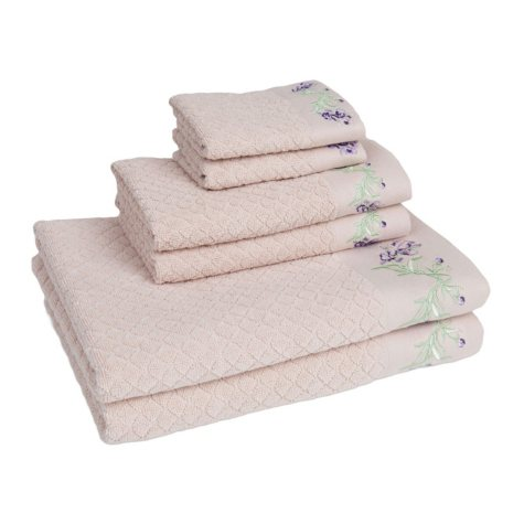 American Dawn Enchanted Iris 6-Piece Towel Set
