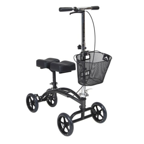 Drive Medical Steerable Knee Walker with Basket, Alternative to Crutches