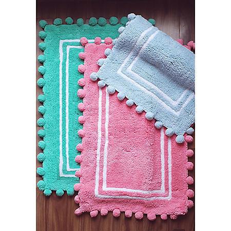 100% Cotton Kids Pom Pom Mat (Various Colors)