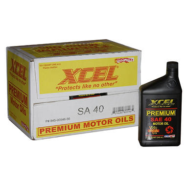 Xcel Premium SAE40 Motor Oil - 1 Quart Bottles - 12 pack