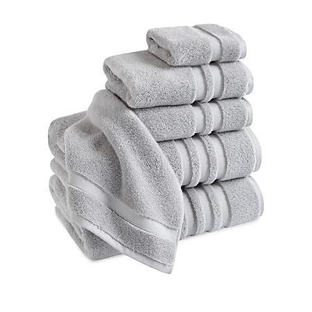 Finesse Zero Twist 100% Cotton 6-Piece Bath Towel Set (Assorted Colors)