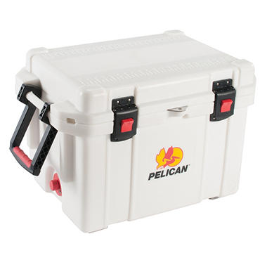 Pelican Elite 45 Quart Cooler Marine - White