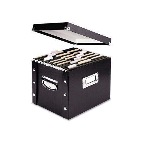 Snap-N-Store Storage Box, Black (Letter, 13 3/8 x 9 3/4 x 10 3/4)