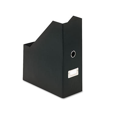 Snap-N-Store Heavy-Duty Fiberboard Magazine File with PVC Laminate, Black