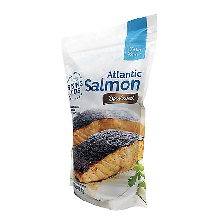 Rising Tide Blackened Atlantic Salmon, Frozen (2 lbs.)
