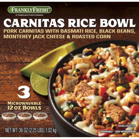 Frankly Fresh Carnitas Rice Bowl (12 oz. bowl, 3 ct.)