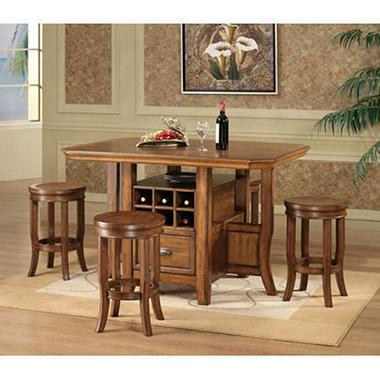Kitchen Gathering Table Gathering table with stools wine bottle storage sams club gathering table with stools wine bottle storage workwithnaturefo