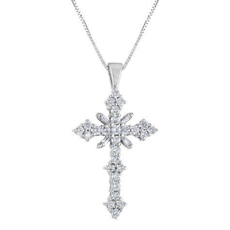 1.45 CT. T.W. Diamond Cross Pendant