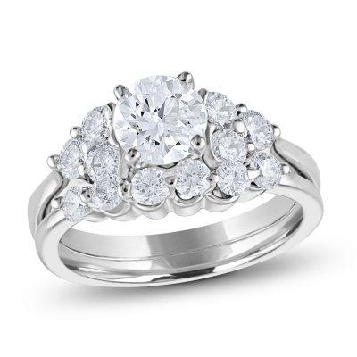 Bridal Sets Diamond Engagement Wedding Ring Sets Sams Club