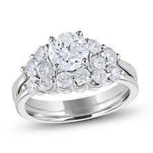 tw diamond engagement ring set h i si2 - Engagement And Wedding Ring Sets