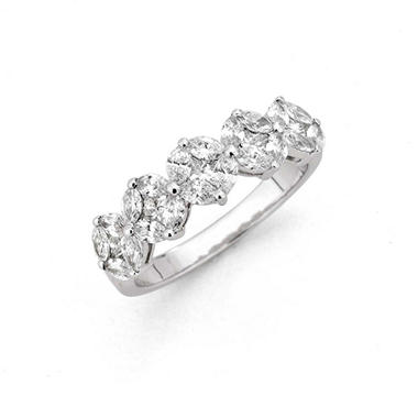 1.33 ct. t.w. Composite Diamond Band in 14k White Gold(H-I, I1)