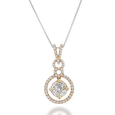 .75 ct. t.w. Multi-Stone Diamond Pendant