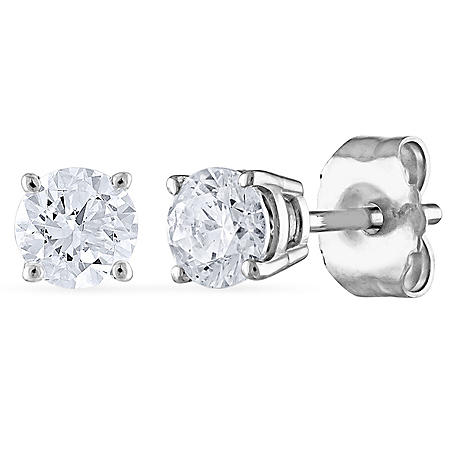 0.47 CT. T.W. Round Diamond Stud Earrings in 14K Gold (I, SI2)