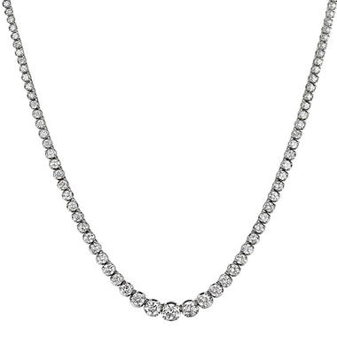 4.31 ct. t.w. Diamond Riviera Necklace in 14K White Gold (H-I, I1)