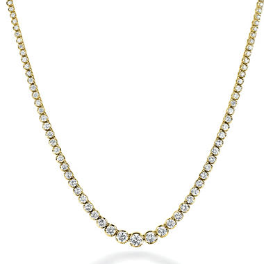 4.31 ct. t.w. Diamond Riviera Necklace in 14K Yellow Gold (H-I, I1)