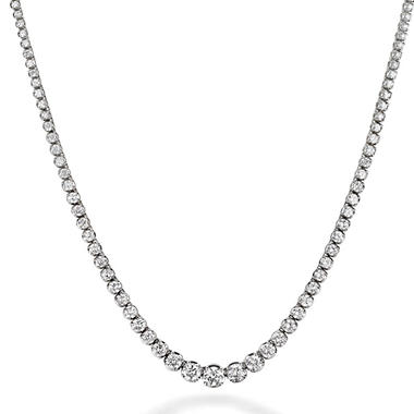 4.63 ct. t.w. Diamond Riviera Necklace in 14K White Gold (H-I, I1)