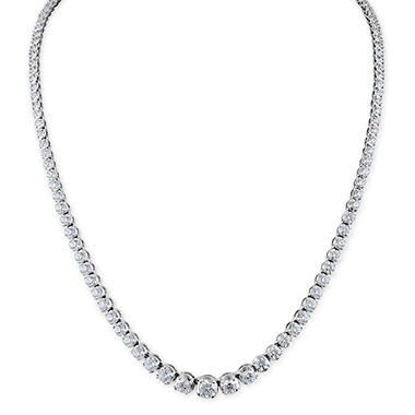 7 CT. T.W. Diamond Riviera Necklace in 14K Gold