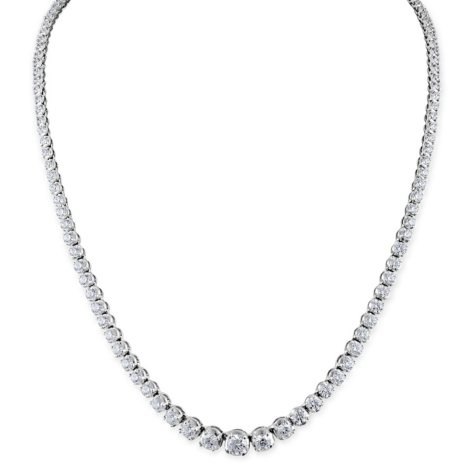 7.92 CT. T.W. Diamond Riviera Necklace in 14K Gold (H-I, I1)