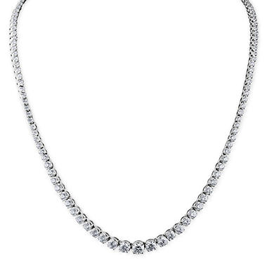 10 CT. T.W. Diamond Riviera Necklace in 14K Gold