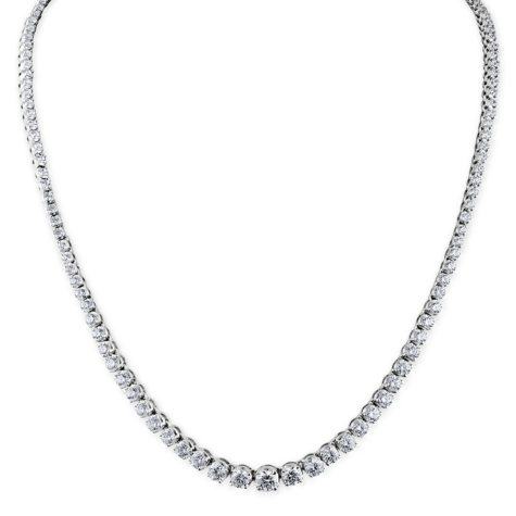 10 ct. t.w. Diamond Riviera Necklace in 14K White Gold (H-I, I1)