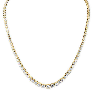 10 ct. t.w. Diamond Riviera Necklace in 14K Gold (H-I, I1)