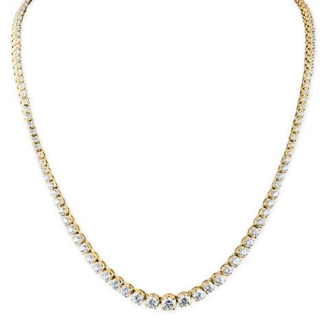 10 CT. T.W. Diamond Riviera Necklace in 14K Gold