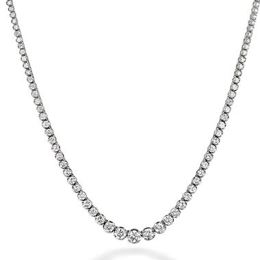 10.5 ct. t.w. Diamond Riviera Necklace in 14K White Gold (H-I, I1)