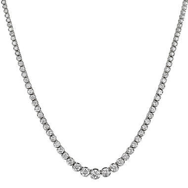 11 ct. t.w. Diamond Riviera Necklace in 14K Gold (H-I, I1)
