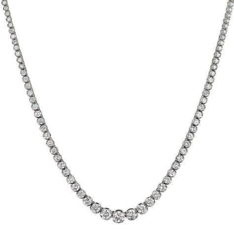 11 ct. t.w. Diamond Riviera Necklace in 14K Gold (H-I, I1)