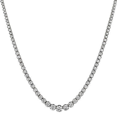 12 ct. t.w. Diamond Riviera Necklace in 14K Gold (H-I, I1)