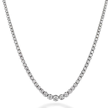 12.5 ct. t.w. Diamond Riviera Necklace in 14K White Gold (H-I, I1)
