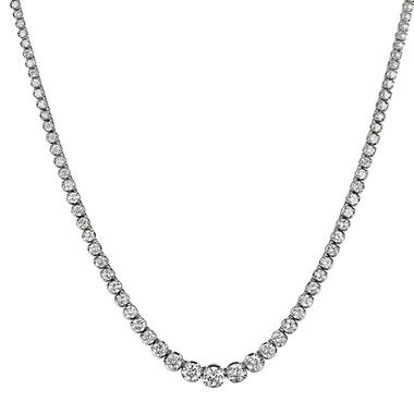 13 ct. t.w. Diamond Riviera Necklace in 14K White Gold (H-I, I1)