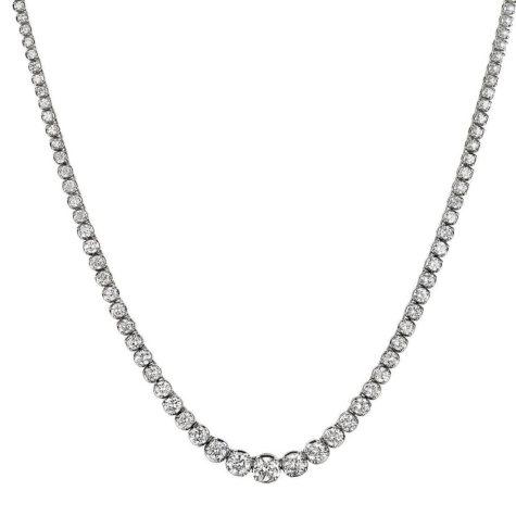 13 ct. t.w. Diamond Riviera Necklace in 14K White Gold (H-I, I1)