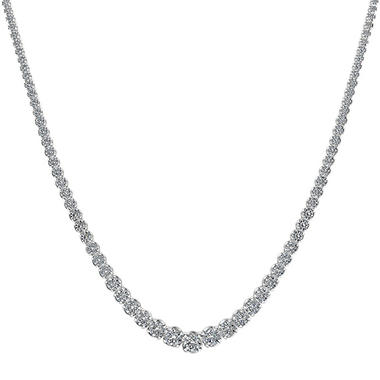 15 ct. t.w. Diamond Riviera Necklace in 14K White Gold (H-I, I1)