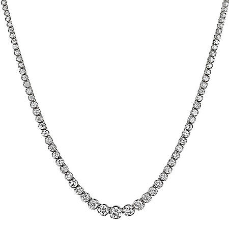 16 ct. t.w. Diamond Riviera Necklace in 14K Gold (H-I, I1)