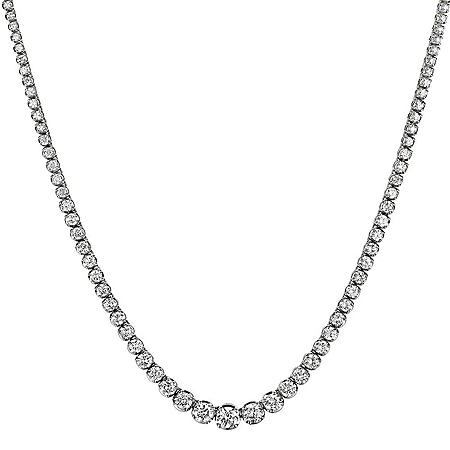 20 ct. t.w. Diamond Riviera Necklace in 14K Gold (H-I, I1
