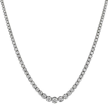 20 ct. t.w. Diamond Riviera Necklace in 14K Gold (H-I, I1)