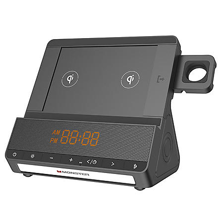 Monster TRIO Multi Qi Charger Speaker with Smart Watch Compatible Dock