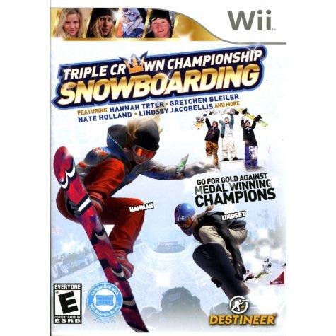 Triple Crown Championship Snowboarding - Wii