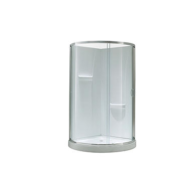 OVE Decors Breeze 34in Shower Kit with Glass Panels, Walls & Base