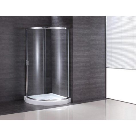 "OVE Decors Breeze 36"" Shower Kit with Frosted Glass Panels & Base"