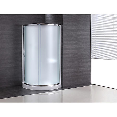 OVE Decors Breeze 38in Shower Kit with Glass Panels & Base