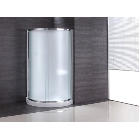 """OVE Decors 38"""" Breeze Shower kit with Frosted Glass, Panels & Base"""