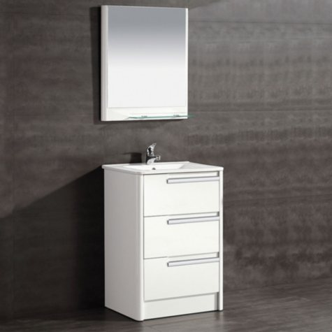 OVE Decors Modena 24-in. Bathroom Vanity in Glossy White
