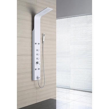 OVE Decors Stainless Steel Shower Head Column - White