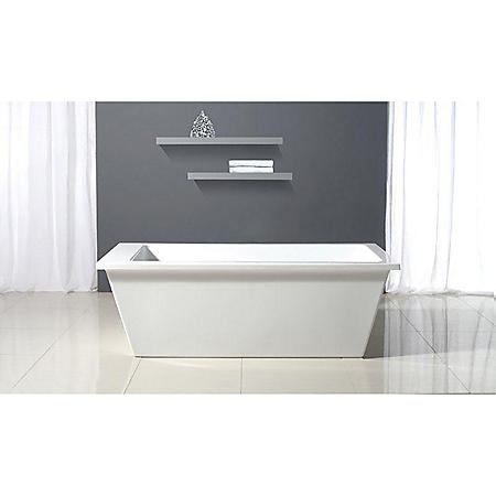 "OVE Decors Houston 69"" x 31"" Freestanding Bathtub (White)"