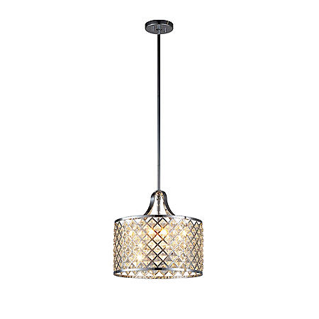 OVE Decors Baker I Chrome Finish LED Integrated Pendant