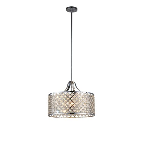 OVE Decors Baker II Chrome Finish LED Integrated Pendant