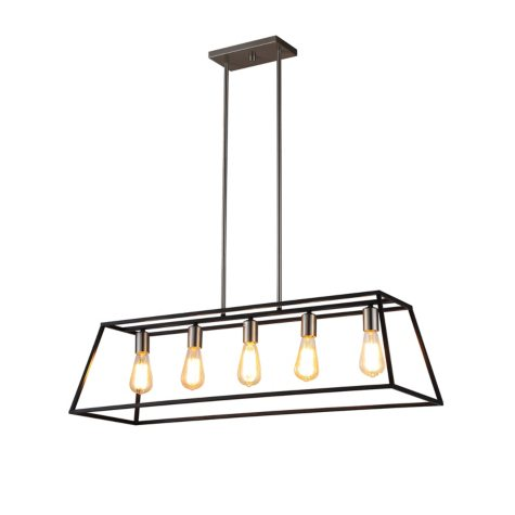 OVE Decors Agnes II Black Finish LED Integrated Pendant